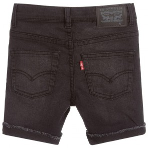 Levi's kids boys slim denim shorts korte broek 511 in de kleur black denim zwart