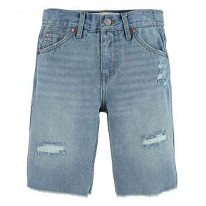 Levi's kids boys korte broek maat 511 slim cut off short in de kleur jeansblauw