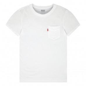 Levi's kids t-shirt met borstzakje in de kleur wit