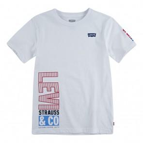 Levi's kids t-shirt met logo print op de mouw in de kleur wit