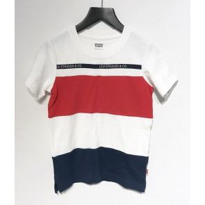 Levi's kids boys t-shirt met gekleurde banen in de kleur wit/rood/blauw