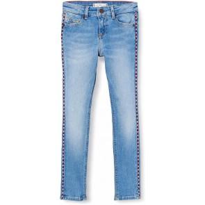 Tommy Hilfiger kids girls jeans broek Nora skinny met geborduurde bies