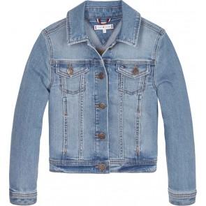 Tommy Hilfiger kids girls basic trucker jeans jacket jasje in de kleur jeansblauw