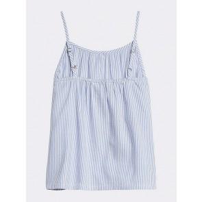 Tommy Hilfiger kids girls top met spaghetti band en fijne streep in de kleur lichtblauw