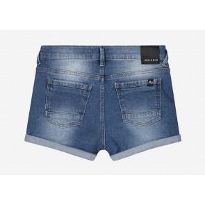 Nik en Nik girls Femke shorts jeansshort in de kleur jeansblauw