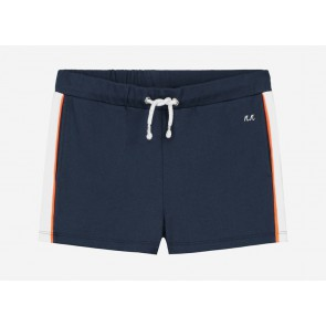 Nik en Nik girls Fidda sweat short met bies in de kleur donkerblauw