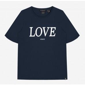 Nik en Nik Girls Lora love t-shirt in de kleur royal blue blauw