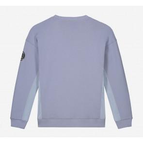 Nik en Nik Boys Keagan sweater met ritsjes in de kleur stone blue lila