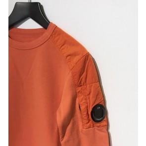 CP Company kids junior sweater trui met parachute stof accenten in de kleur oranje