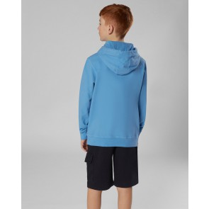 CP Company kids junior hooded sweater trui met logo print in de kleur blauw