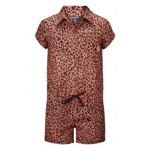Retour jeans denim deluxe jumpsuit Meta met panterprint in de kleur old pink