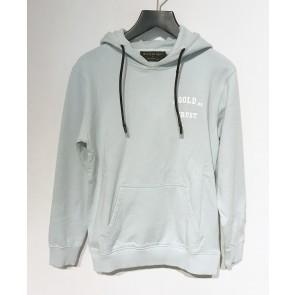 In gold we trust kids hoodie sweater trui met logo print in de kleur lichtblauw