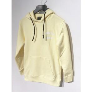 In gold we trust kids hoodie sweater trui met logo print in de kleur zachtgeel