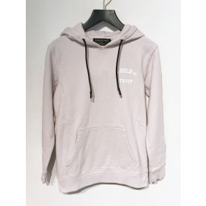 In gold we trust kids hoodie sweater trui met logo print in de kleur zachtroze