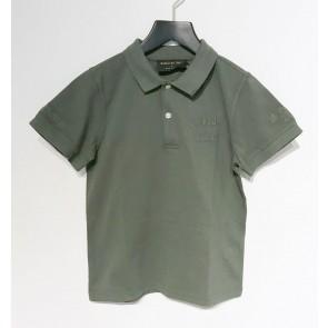 In gold we trust kids polo shirt in de kleur donkergroen