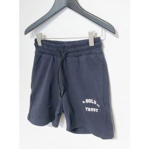 In gold we trust kids korte sweat short broek in de kleur donkerblauw