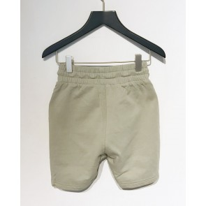 In gold we trust kids korte sweat short broek in de kleur zachtgroen/beige