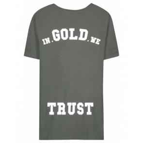 In gold we trust kids the pusha t-shirt in de kleur donkergroen