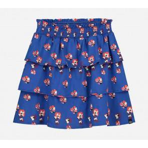 Nik en Nik girls tok Charrel flower skirt in de kleur space blue blauw