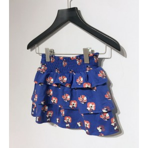 Nik en Nik girls tok Charrel flower skirt in de kleur space blue blauw