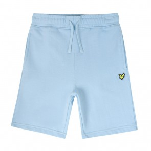 Lyle and Scott junior kids korte sweat broek in de kleur lichtblauw