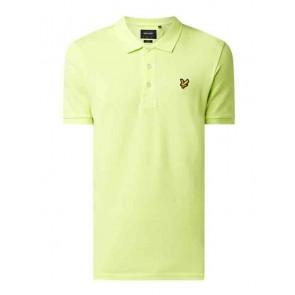 Lyle and Scott junior kids polo shirt in de kleur sharp green neon groen