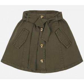 Mayoral kids girls safari rok van katoen in de kleur army green