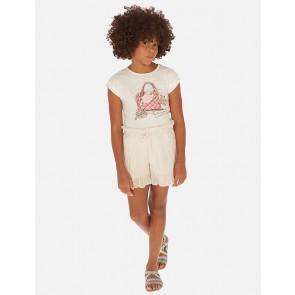 Mayoral kids girls viscose linnen broek met strepen in de kleur blauw/wit