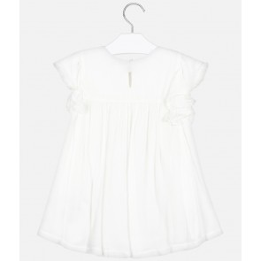 Mayoral kids girls ruffle top in de kleur off white