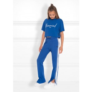 Nik en Nik kids girls Lora track pants in de kleur space blue blauw