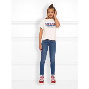 Nik en Nik kids girls influencer t-shirt in de kleur off white
