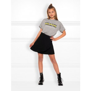 Nik en nik kids girls influencer t-shirt in de kleur light grey melange grijs