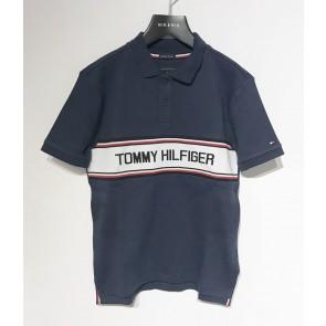Tommy Hilfiger kids boys polo shirt met logo print in de kleur donkerblauw