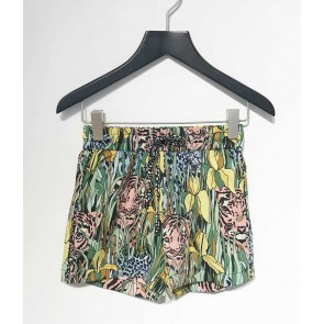 AI&KO girls short korte broek met jungle print in de kleur multicolor