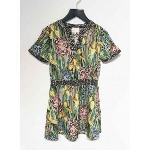 AI&KO girls jurk Neana met jungle print in de kleur multicolor