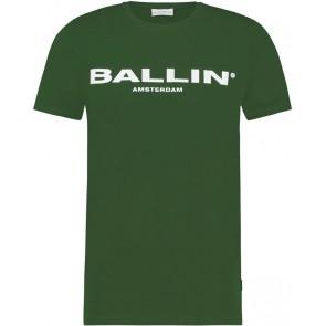 Ballin Amsterdam kids t-shirt met logo print in de kleur donkergroen