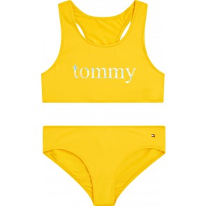 Tommy Hilfiger kids girls bikini bralette set in de kleur geel