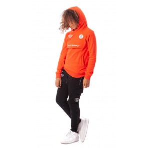 Black Bananas kids neon anorak hoody sweater trui in de kleur neon orange