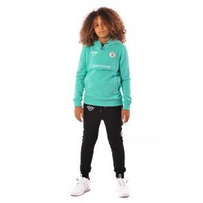 Black Bananas kids neon anorak hoody sweater trui in de kleur aqua groen