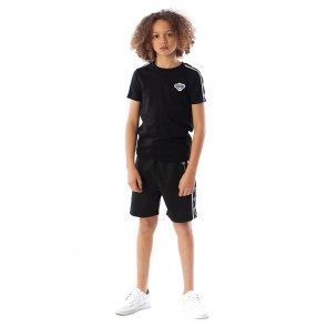 Black Bananas kids t-shirt the taped tee in de kleur zwart black