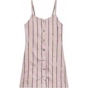 Calvin Klein kids girls striped strap dress jurk in de kleur zachtroze