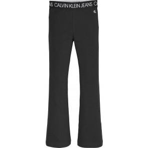 Calvin Klein kids girls logo waistband flare legging in de kleur zwart