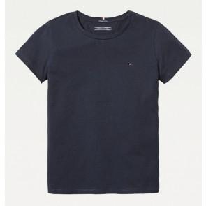 Tommy Hilfiger girls basic shirt met ronde hals in de kleur donkerblauw
