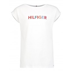 Tommy Hilfiger kids girls multi color graphic tee in de kleur wit