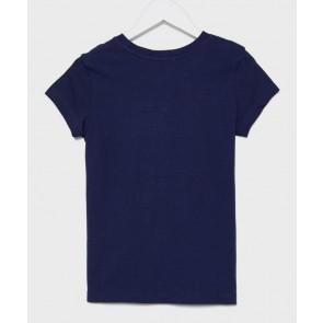 Calvin klein kids girls logo t-shirt in de kleur donkerblauw