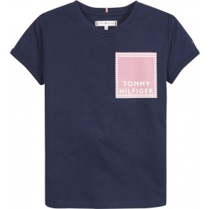 Tommy Hilfiger kids girls t-shirt autical graphic in de kleur donkerblauw
