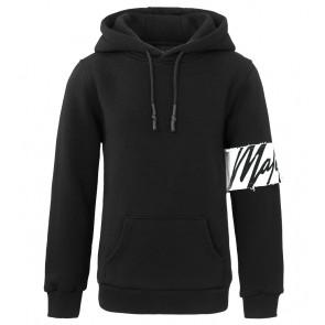 Malelions junior kids hoodie sweater trui met arm band in de kleur zwart