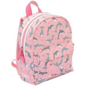 Zebra trend rugzak dolphins S in de kleur pink roze