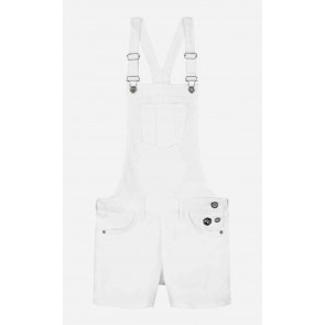Nik en Nik kids girls Floyo Dungaree short Salopette in de kleur off white