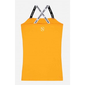 Nik en Nik girls n&n spaghetti top orange/yellow geel